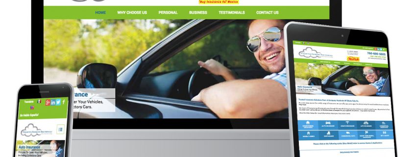 Photo of website designed for Collective Insurance Solutions