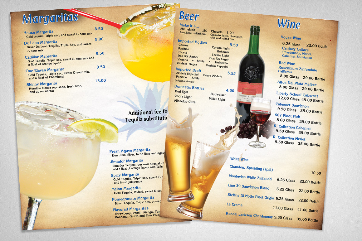 Photo of Fresh Agave Drink Menus